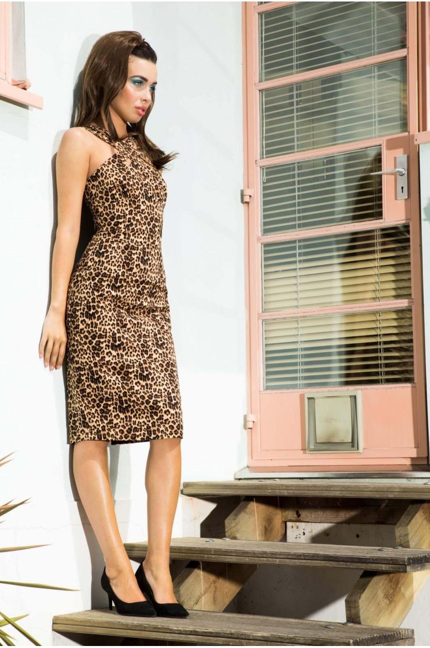 Robe crayon léopard rockabilly