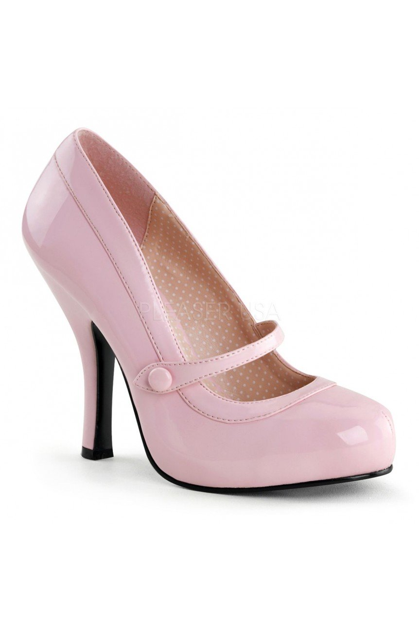 Chaussure pin up couture vernie rose