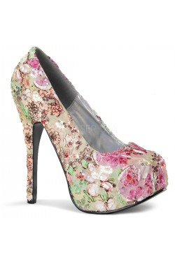 Chaussures plume de paon bordello