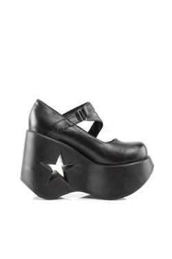 Chaussures compensées avec talon troué