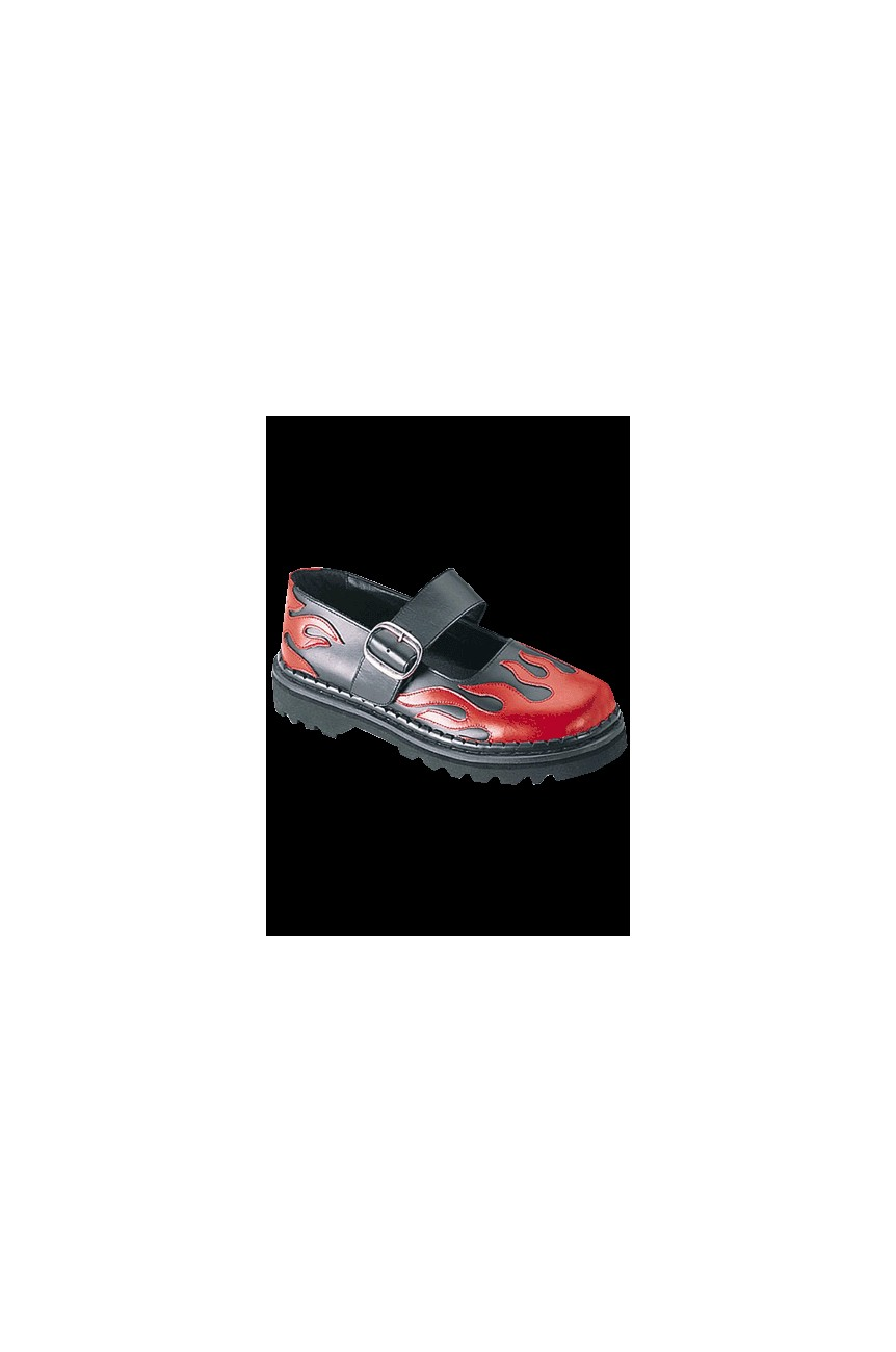Chaussures babies avec flaming rouge Demonia