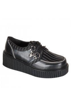 Creepers rayées avec fermeture eclair