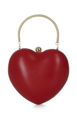 Sac vintage coeur rouge