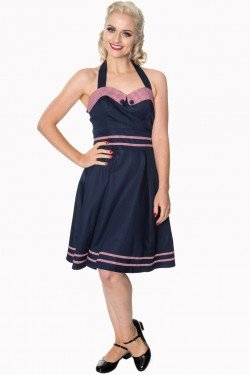 Robe rockabilly demin et vichy
