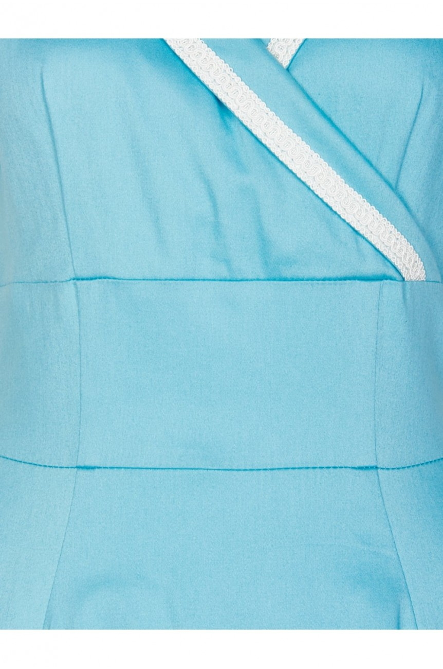 robe retro bleue