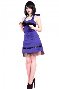 Robe rock violette