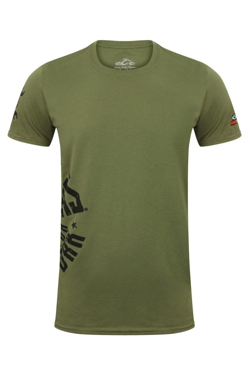 Tee shirt Orange county circle military vert