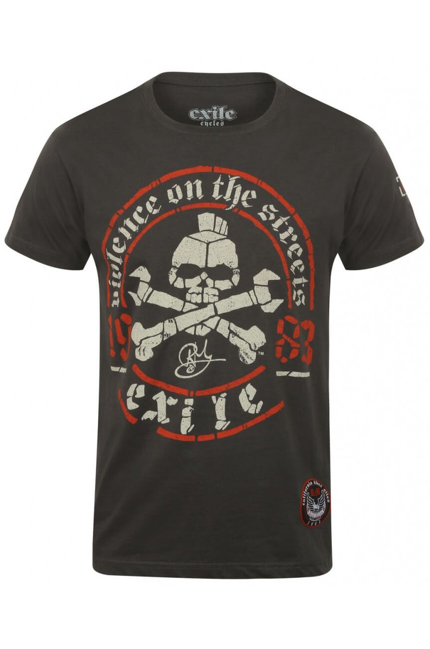 Tee shirt exile motorcycle violence