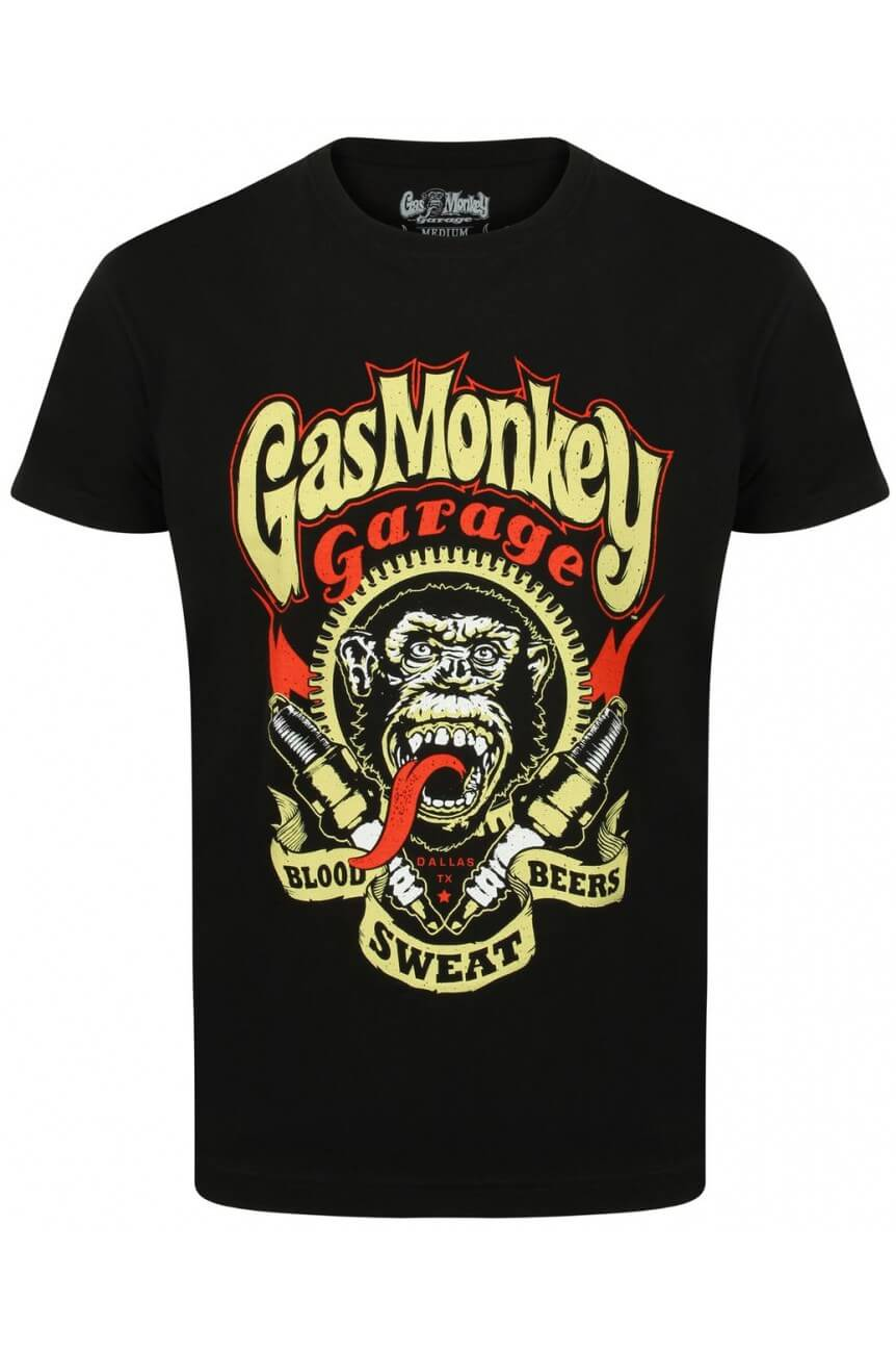 Tee shirt Gas monkey garage sparkplug