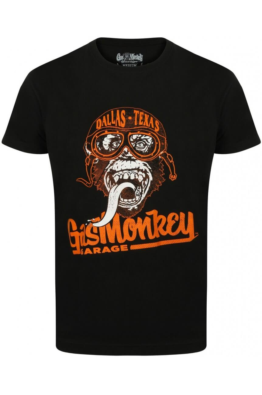 Tee shirt gas monkey garage goggle