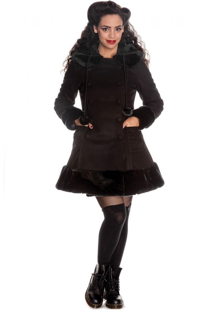 Manteau hell bunny noir a capuche