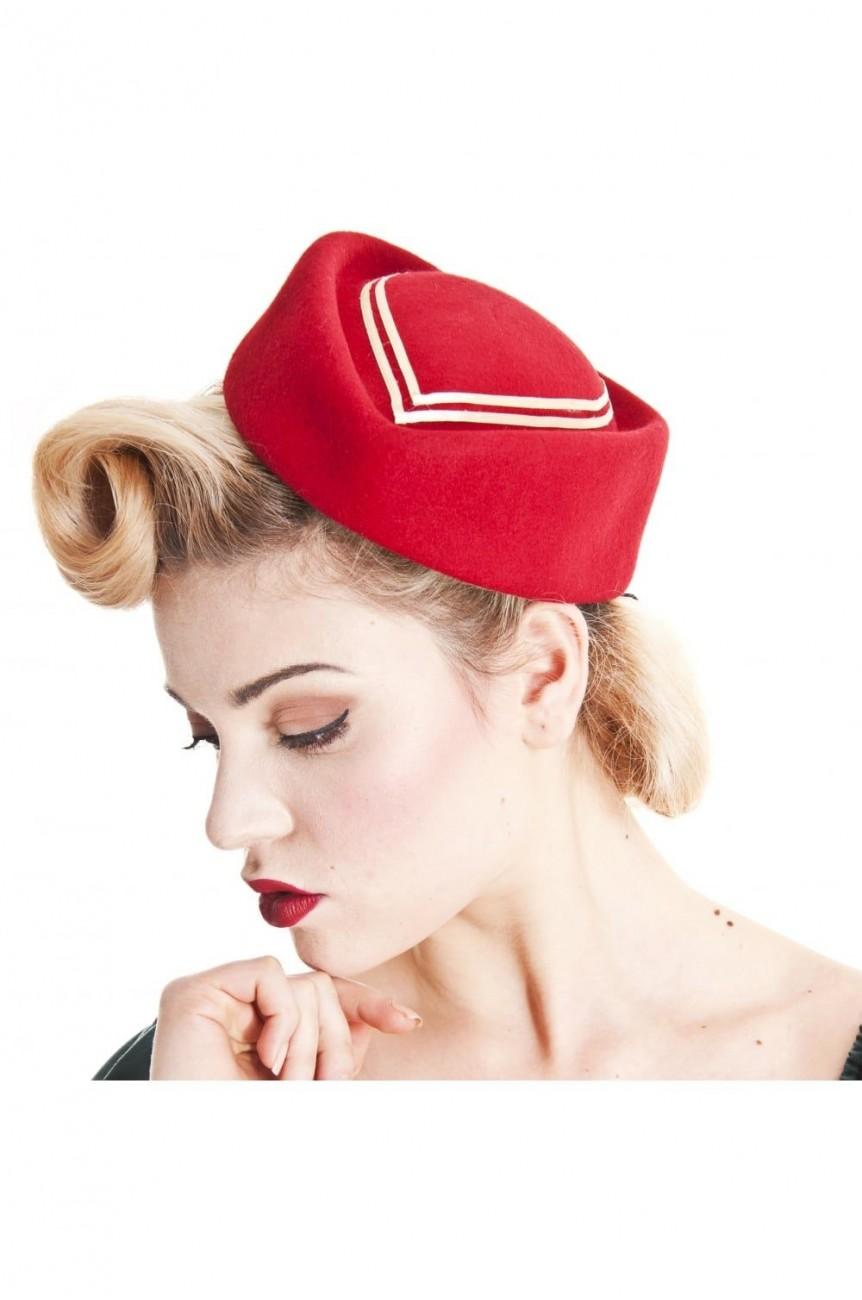 Chapeau rouge vintage