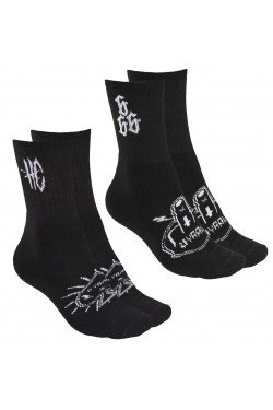 Chaussettes hyraw noires et blanches